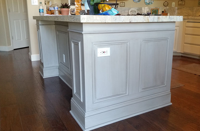 faux finish kitchen cabinet
