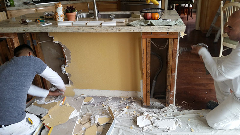 remodel kitchen cabinet island